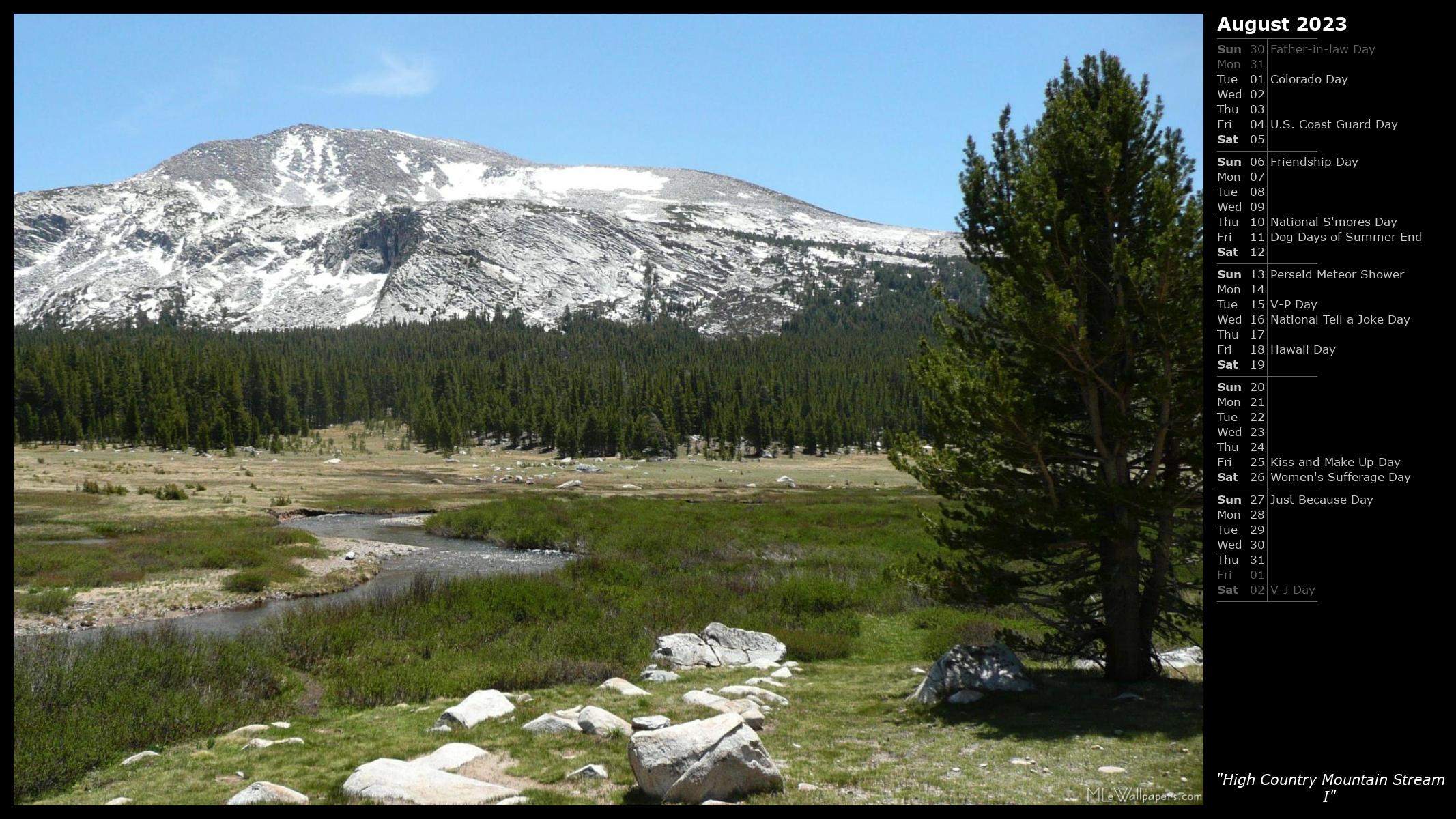 Mlewallpapers Com High Country Mountain Stream I Calendar Images, Photos, Reviews