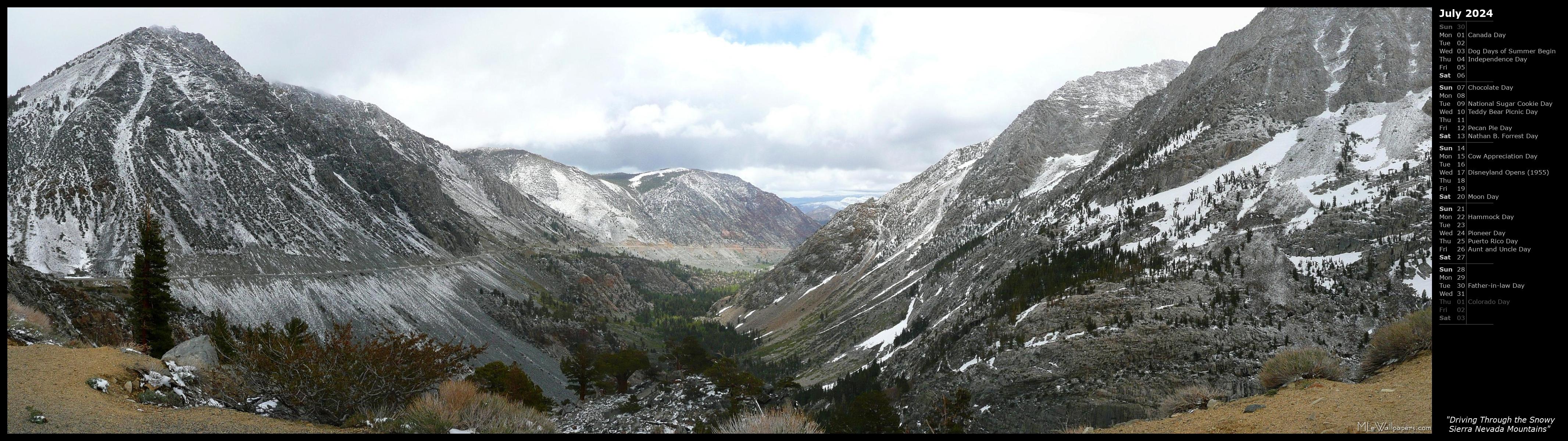 Mlewallpaperscom Driving Through The Snowy Sierra Nevada