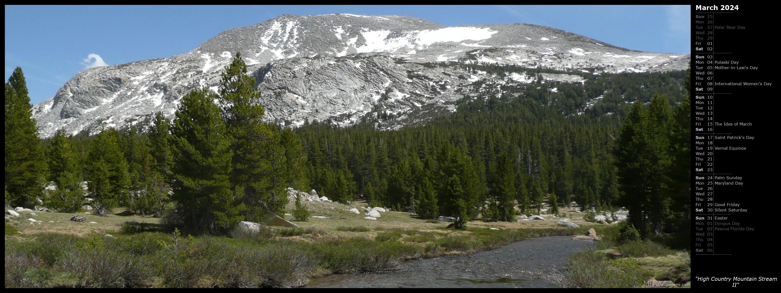 Mlewallpapers Com High Country Mountain Stream Ii Calendar Images, Photos, Reviews